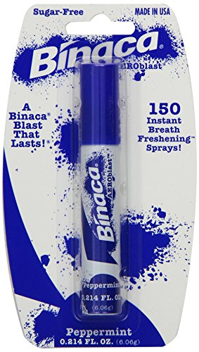 Binaca Concentrated Peppermint Breath Spray, .2 oz