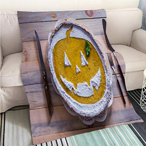 BEICICI Luxury Super Soft Blanket Pumpkin Cake for Halloween Hypoallergenic - Plush Microfiber Fill - Machine Washable ()