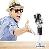 Beistle 54688 Plastic Vintage Microphone, Silver/Black
