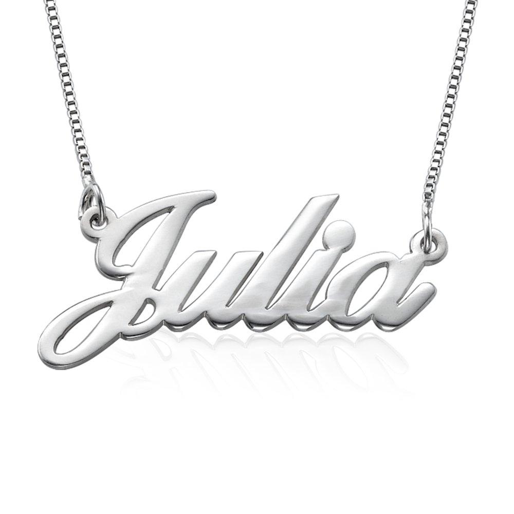925er Silber Namenskette in Schreibschrift - Personalisiert mit Ihrem eigenen Wunschnamen! Ihr Persönlicher Schmuck 101-01-055-02