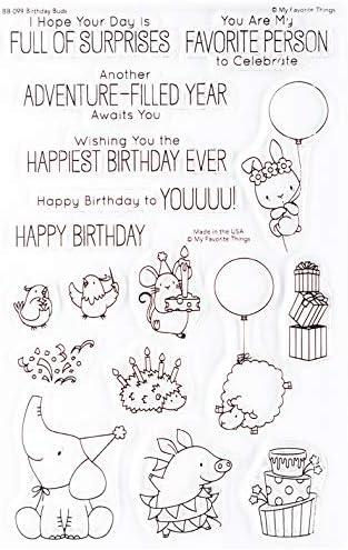 MY FAVORITE THINGS Birdie Brown Stamp Bday Birthday Buds