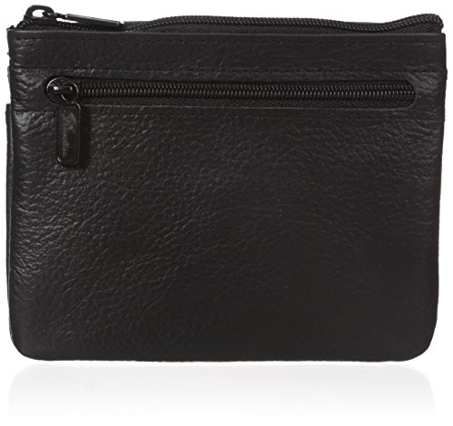 Buxton Women's Large Id Coin/Card Case, Black, One Size ()