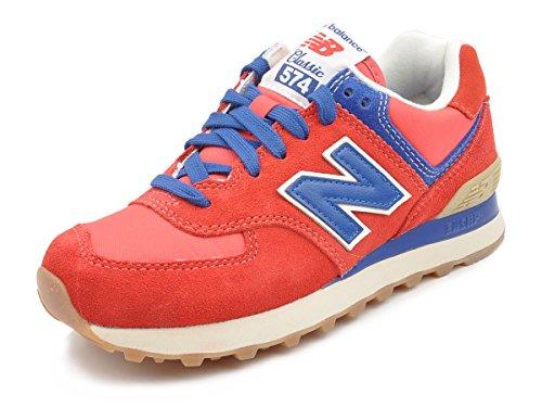 New Balance ML574 VRB Sneaker Herren (rot / blau / weiß) Rot