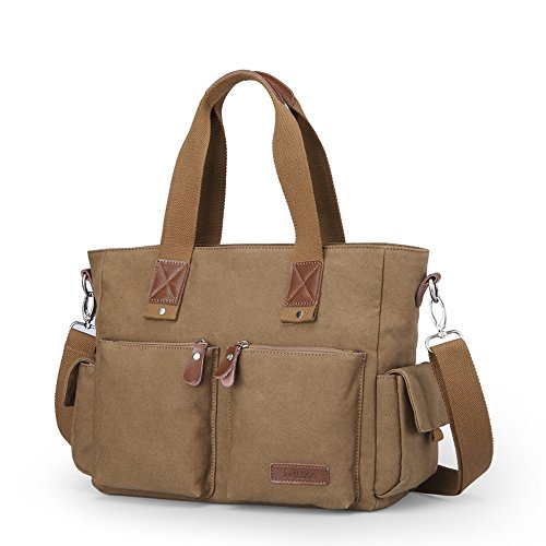 Hombre Viaje Bolso Business ordenador bolsa de lona Casual Bolsa de hombro Messenger Bag