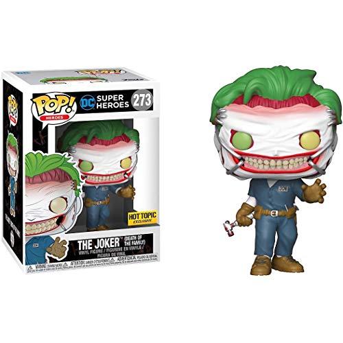Funko The Joker [Death of The Family] (Hot Topic Exclusive): DC Universe x POP! Heroes Vinyl Figure & 1 POP! Compatible PET Plastic Graphical Protector Bundle [#273 / 37487 - B] -