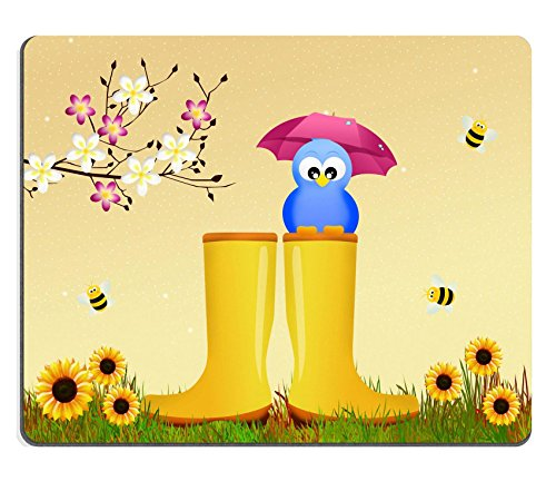 Price comparison product image Luxlady Gaming Mousepad IMAGE ID: 26692820 bird on rain boots
