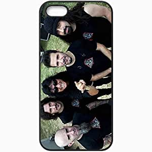 Personalized iPhone 5 5S Cell phone Case/Cover Skin Anthrax Tattoo Bald Beard Teeth Black