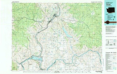 Omak WA topo map, 1:100000 scale, 30 X 60 Minute, Historical, 1983, updated 1983, 24.1 x 38.1 IN - Paper (Ruby Osborne)
