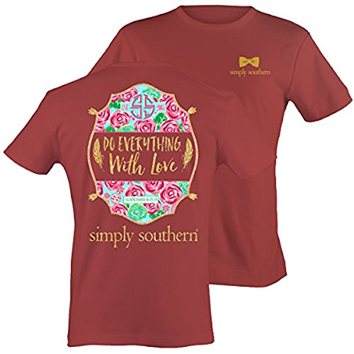 Simply Southern Tees Short Sleeve Preppy Do Everything with Love