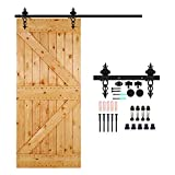 CCJH Sliding Barn Wood Door Sliding Track Hardware Kit (4FT for single door)