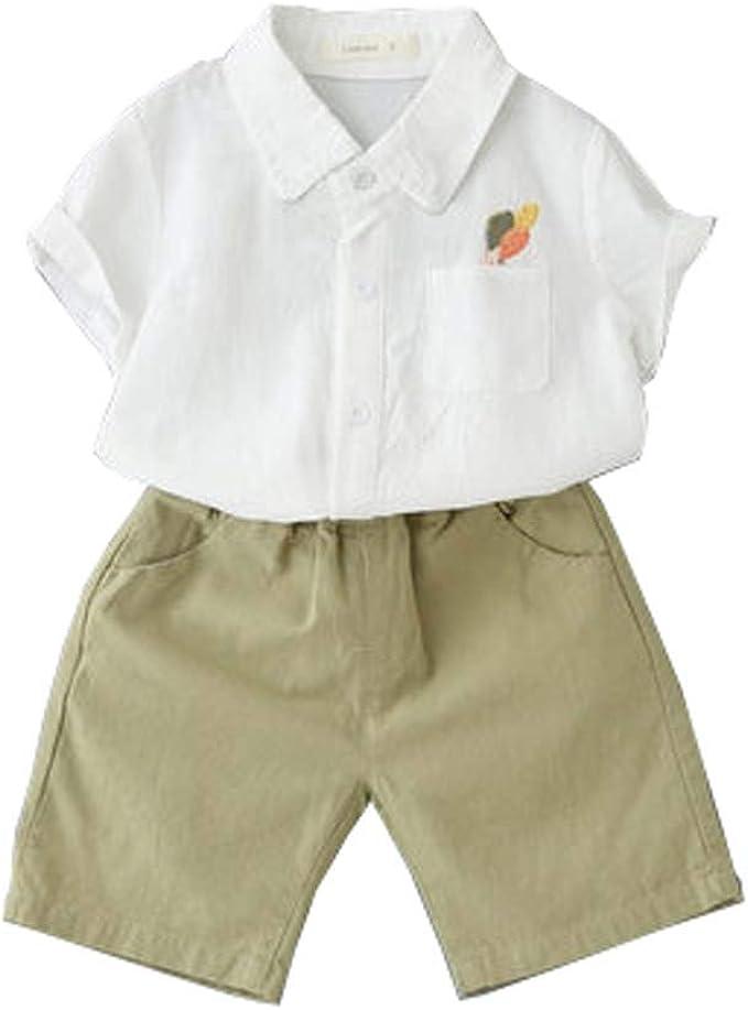 Bebe Niño Verano Ropa Conjuntos, Algodón Imprimiendo La Camisa + Pantalones Cortos Niños Conjunto de Trajes: Amazon.es: Ropa y accesorios