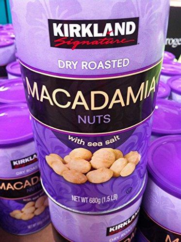 Kirklland Signature Dry Roasted Macadamias 24 Oz (Pack of 3)