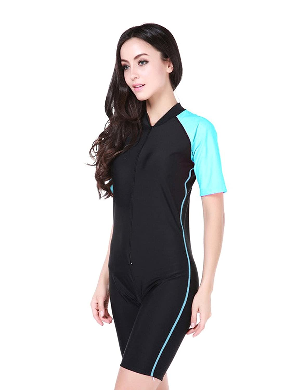 Full Body Leg swimsuit with sleeves 24: Amazon.co.uk: Sports ...
