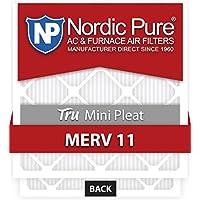 Nordic Pure 24x24x1M11MiniPleat-3 Tru Mini Pleat MERV 11 AC Furnace Air Filters (3 Pack), 24 x 24 x 1 by Nordic Pure