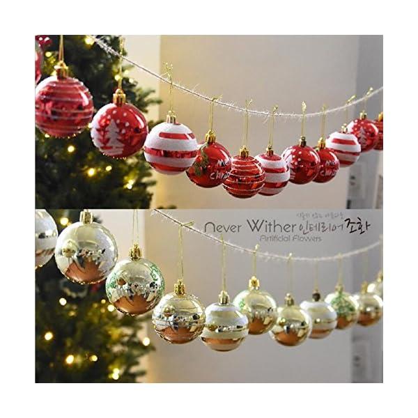 Venkaite Palla di Natale Ornamenti, Albero di Natale Palla Decorazioni per Alberi di Natale, Nozze, Partito Decorazione (24 / Pacchetto, Pallina Verniciata, 2.36 Pollici 60mm), Rosso 7 spesavip