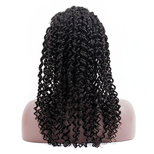 Fabeauty Hair 150% Density 360 Lace Frontal Human Hair Wigs with Baby Hair for Black Women Curly Brazilian Virgin Hair Lace Wig Natural Color - Bna Store
