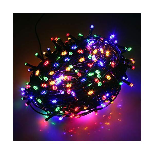 Cavo Verde Scuro Catena Luci A Led Luminoso Natalizia 500 Leds 52.8m Luce Lucciole Con Controller 8 Funzioni Ideale Per Natale Compleanni Feste (Multicolor Colori) 3 spesavip