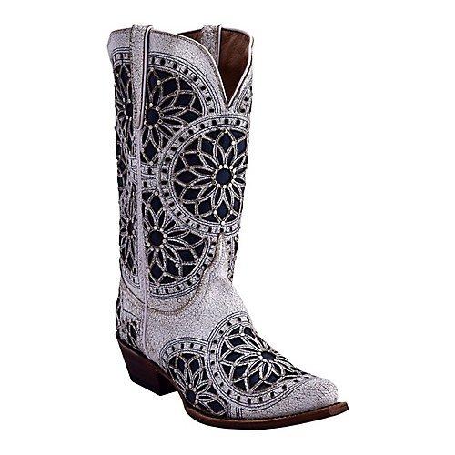 Ferrini Ladies Mandala Snip Toe White Boots 8.5 by Ferrini