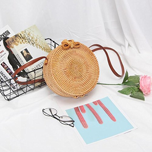 Jade Woven Shoulder Woven Bag Hand Bag Shoulder Basket Bag Bag Hand Design Bag Bag Woven Ring Straw Bag Rattan Woven Bag Beach Summer Flower rZqROr