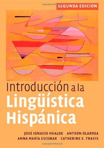 Introducción a la lingüística hispánica (Spanish Edition) Pdf