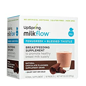 UpSpring Milkflow Fenugreek + Blessed Thistle Powder Chocolate Drink Mix