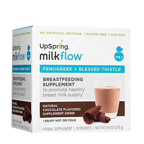 UpSpring Milkflow Fenugreek + Blessed Thistle Powder Chocolate Drink (Feeding Mix)