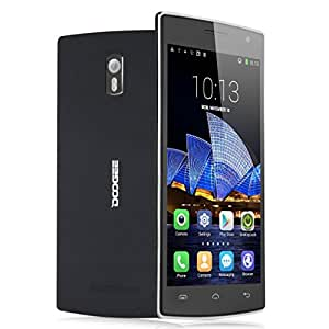 """DOOGEE DG580 pantalla de 5,5 """", pantalla QHD HotKnot Quad Core 1,3 GHz, 3 g, Dual SIM, cámara de fotos de 5 Mpx, radio FM, GPS, wi OTG""""-Fi, Bluetooth, 1 GB de RAM, 8 GB de memoria ROM libre para grande Virgin SFR naranja Bouygues Free Proximus Edpnet Dommel Mobistar, etc."""