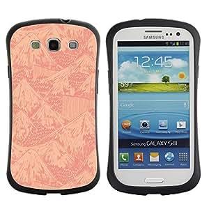 Hybrid Anti-Shock Bumper Case for Samsung Galaxy S3 / Mountains Pattern