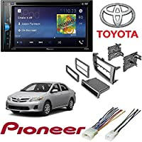 Pioneer Multimedia DVD Receiver with 6.2 WVGA Display and TOYOTA COROLLA 2009 2013 CAR STEREO RADIO DASH INSTALLATION MOUNTING KIT
