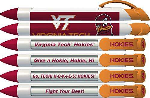 Greeting Pen Virginia Tech Braggin' Rights Rotating Message 6 Pen Set 20542 (Rotating Pen Message)