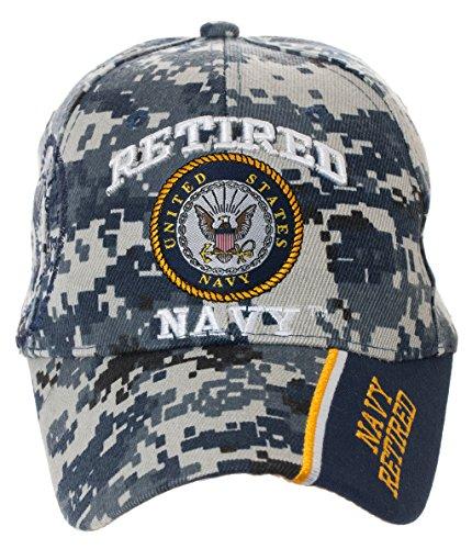 Retired Baseball - Officially Licensed US Navy Retired Baseball Cap in Digital Camo