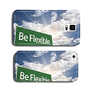 Be Flexible Green Road Sign cell phone cover case iPhone6