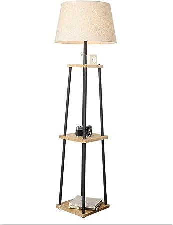 Lampadaire avec Tablette 160cm Naturel | Lampadaire design