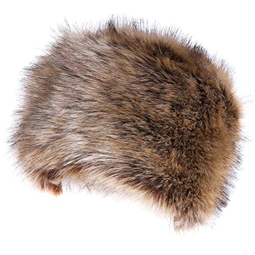Soul Young Women's Winter Faux Fur Cossak Russian Style Hat (one size, Nature) (Fur Brown Hat)