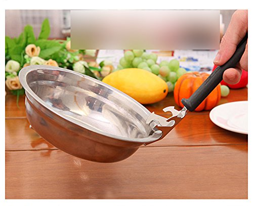 1Pc Creative Multifunction Anti-hot Stainless Steel Bowl Plate Clip Bottle Opener Anti-scald Dish Device Microwave ()