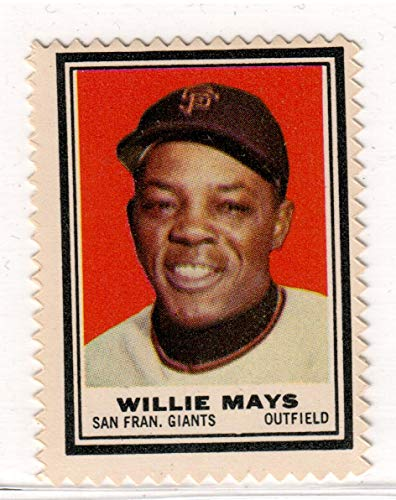 Topps Baseball Stamps - 1962 Topps Baseball Stamps Willie Mays Stamp Near Mint Condition