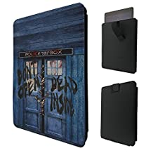 """597 - Walking Dead Hands Doctor Who Tardis Police Call Box For All ipad 2 3 4, ipad Air 1, ipad Air 2, ipad Pro 9.7"""" Quality Tpu Leather Pull Tab Pouch Case Sleeve Cover"""