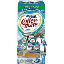 NESTLE COFFEE-MATE Coffee Creamer, Sugar Free French Vanilla, liquid creamer singles, 50 count