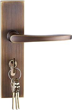 Ztzt All Copper Quiet Modern American Door Lock Simple Indoor Door Bedroom Bathroom Bathroom Double Open Child Door Lock Large Bronze Left Inside Without Key Amazon Co Uk Diy Tools