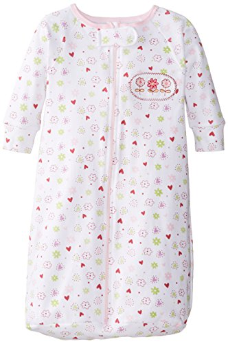 Spasilk Baby-Girls Newborn 100% Cotton Sleep Bag Sack, Pink Flower, O/S (21lbs) (Girls Sleep Bag)