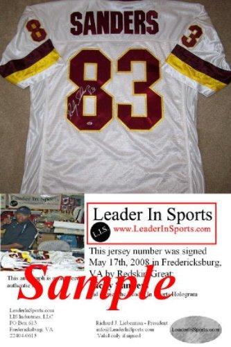 (Ricky Sanders Autographed Jersey - Washington Redskins)
