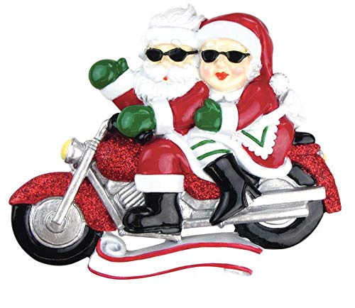 Polar X Motorcycle Mr. & Mrs. Claus Personalized Christmas Ornament
