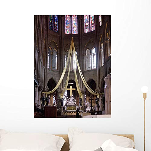 Wallmonkeys Notre Dame Paris Wall Mural Peel and Stick Vinyl Graphic (36 in H x 27 in W) WM525865