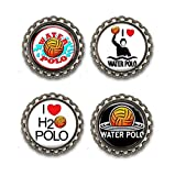 Water Polo Bottle Cap Magnets