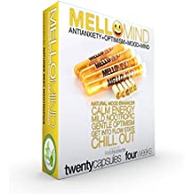 MelloMind Gently Energizing Antianxiety Nootropic Solution. The Most Effective Blend of Kava Kava, Theobromine, Intellect Tree Seed (SuperCelastrus), Guarana, Theanine and More. 4 Weeks (20 Capsules)