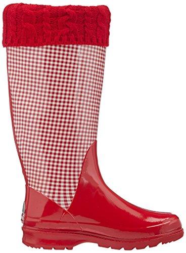 Playshoes Wellies Deer - Zapatillas de Estar Por Casa de caucho mujer Rojo (rot 8)