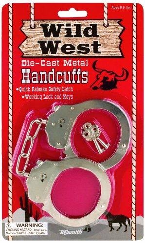 Toysmith Metal Handcuffs - Cop Costumes For 11 Year Olds