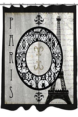 Manual Woodworkers & Weavers Shower Curtain, Paris Circle Eiffel Tower