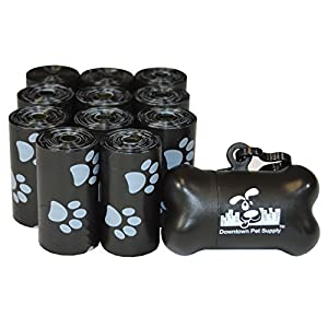 Downtown Pet Supply Dog Pet Waste Poop Bags with Leash Clip and Bag Dispenser – 180, 220, 500, 700, 880, 960, 2200 Bags