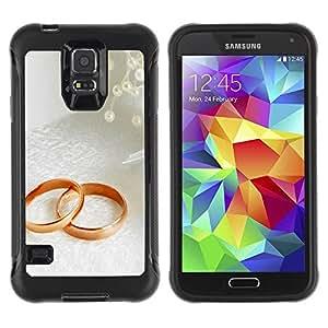 Suave TPU GEL Carcasa Funda Silicona Blando Estuche Caso de protección (para) Samsung Galaxy S5 V / CECELL Phone case / / Couple Ring /